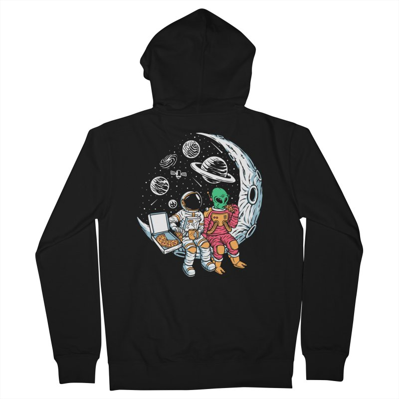 Pizza Party In Space Men's Zip-Up Hoody by Far Out Sky - A Popular Ventures Company