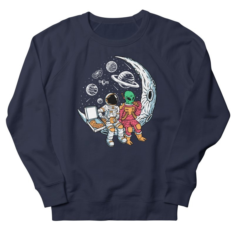 Pizza Party In Space Women's Sweatshirt by Far Out Sky - A Popular Ventures Company