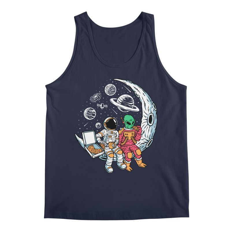 Pizza Party In Space Men's Tank by Far Out Sky - A Popular Ventures Company