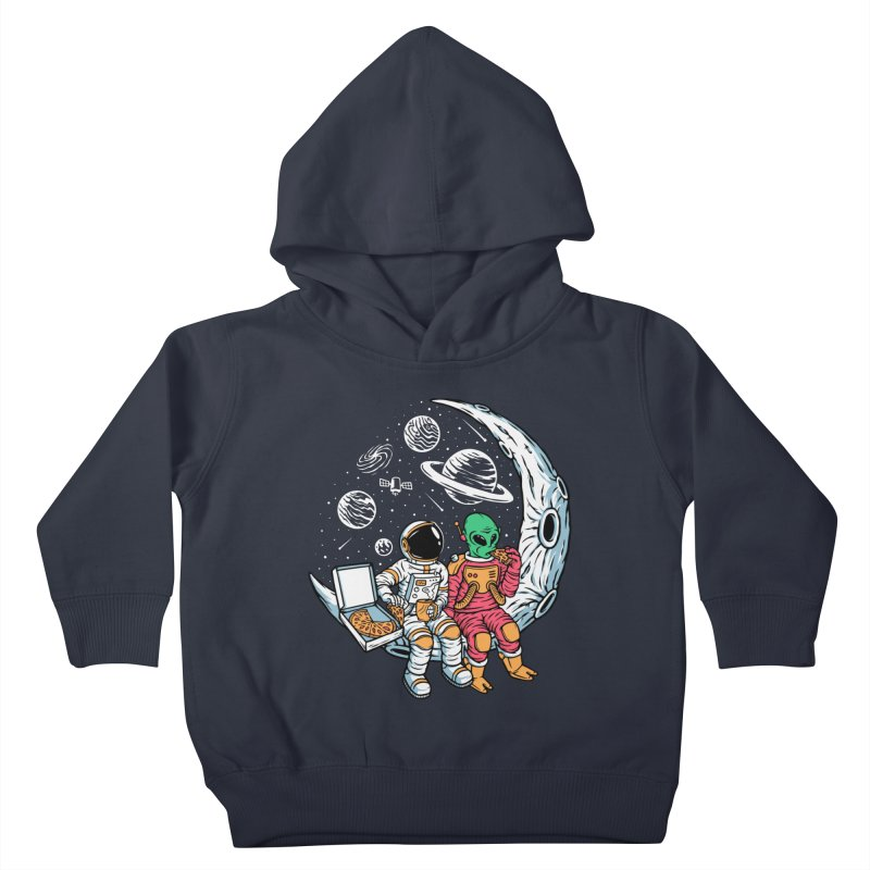 Pizza Party In Space Kids Toddler Pullover Hoody by Far Out Sky - A Popular Ventures Company