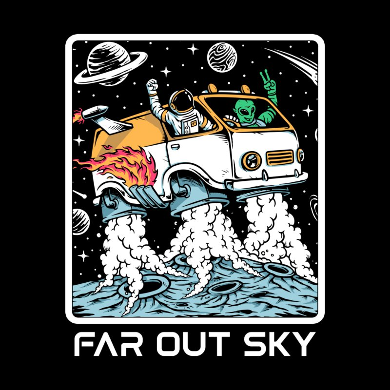 Alien And Astronaut Living The Van Life Men's V-Neck by Far Out Sky - Space For Your Space