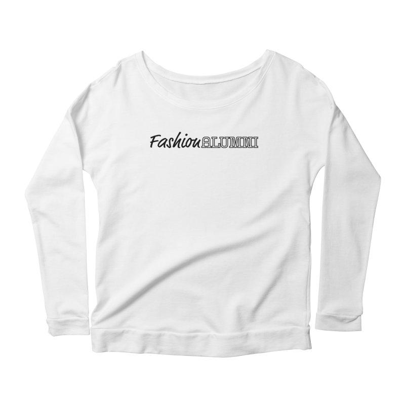 Choose Black Logo Design Women's Scoop Neck Longsleeve T-Shirt by Fashion Alumni's Artist Shop