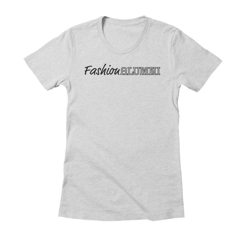 Choose Black Logo Design Women's Fitted T-Shirt by Fashion Alumni's Artist Shop