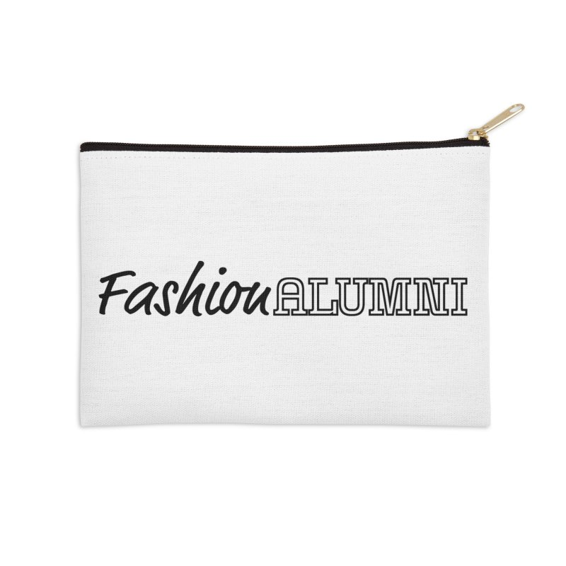 Choose Black Logo Design in Zip Pouch by Fashion Alumni's Artist Shop