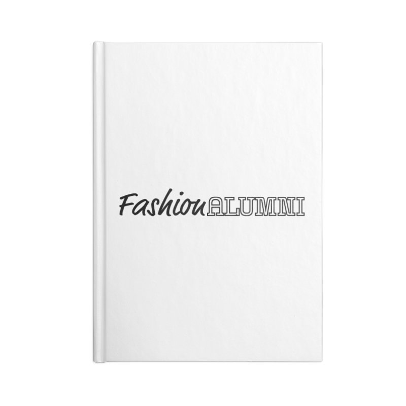 Choose Black Logo Design in Blank Journal Notebook by Fashion Alumni's Artist Shop