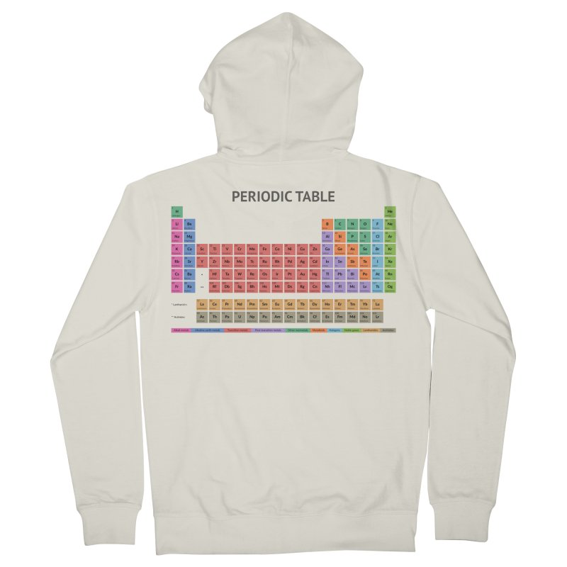 Periodic Table T-shirt (Light) Men's Zip-Up Hoody by fashioncrimson's Shop