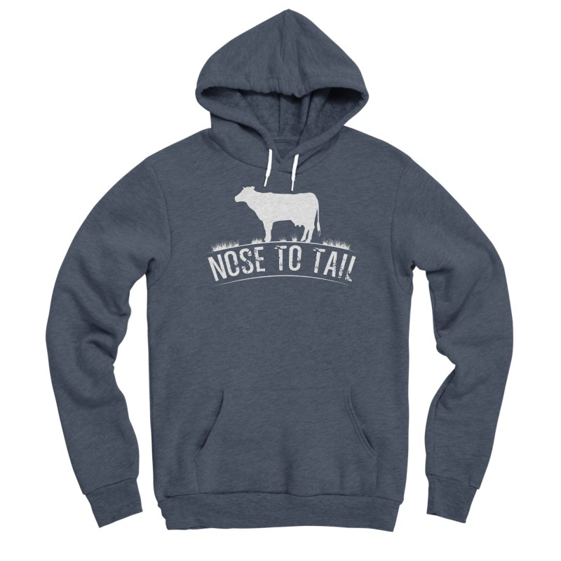 Nose to tail white lettering Men's Pullover Hoody by Fat Fueled Family's Artist Shop