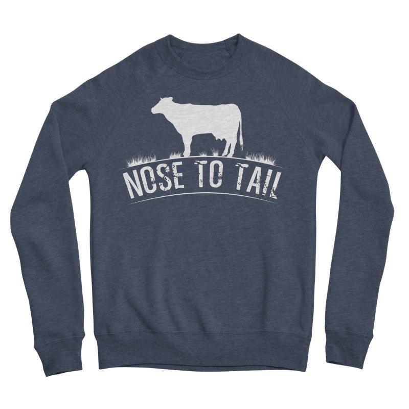Nose to tail white lettering Men's Sponge Fleece Sweatshirt by Fat Fueled Family's Artist Shop