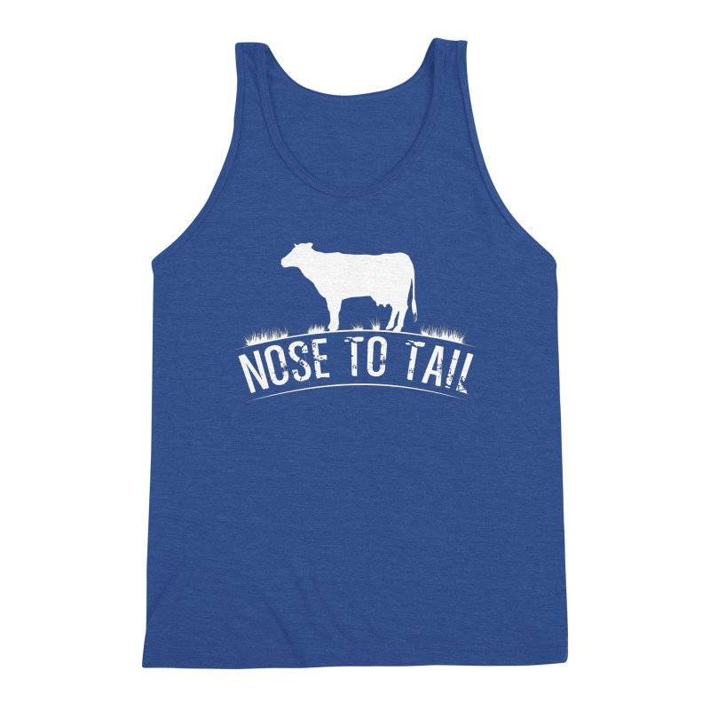 Nose to tail white lettering Men's Tank by Fat Fueled Family's Artist Shop