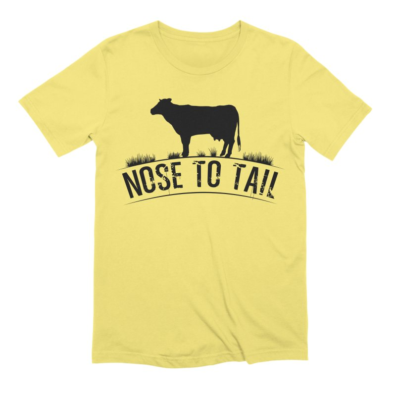 Nose to tail black lettering Men's T-Shirt by Fat Fueled Family's Artist Shop