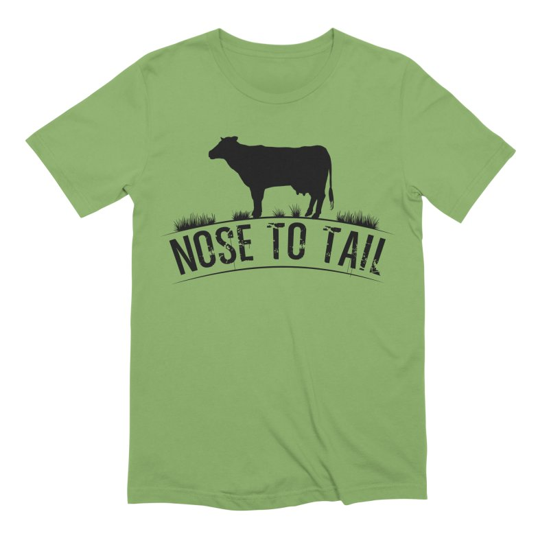Nose to tail black lettering Men's Extra Soft T-Shirt by Fat Fueled Family's Artist Shop