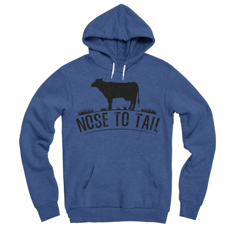 Nose to tail black lettering Women's Sponge Fleece Pullover Hoody by Fat Fueled Family's Artist Shop