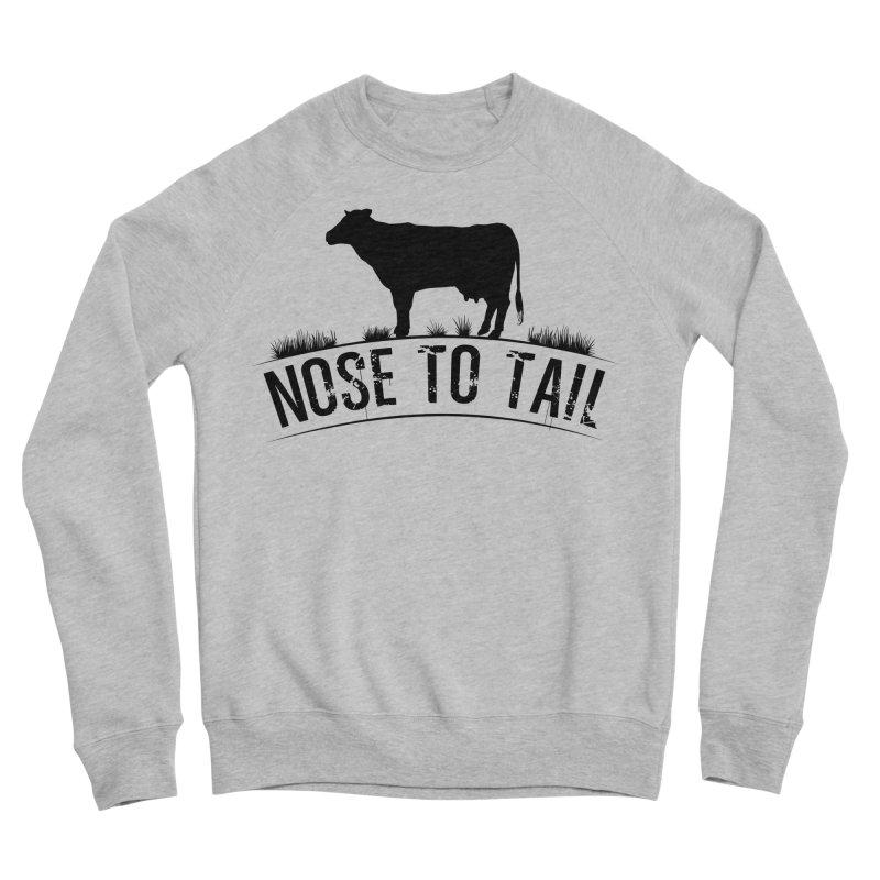 Nose to tail black lettering Women's Sponge Fleece Sweatshirt by Fat Fueled Family's Artist Shop