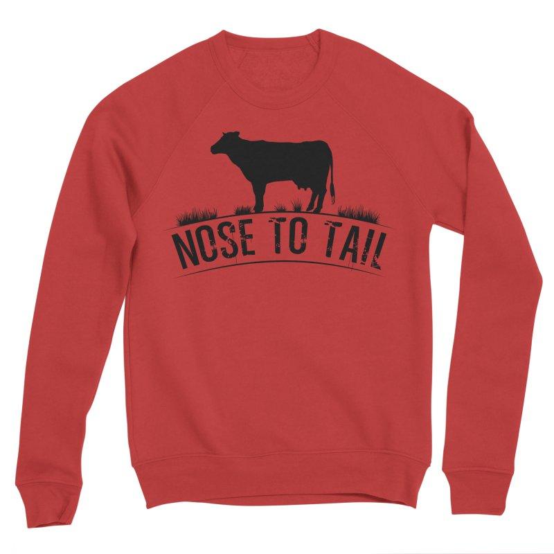 Nose to tail black lettering Men's Sponge Fleece Sweatshirt by Fat Fueled Family's Artist Shop