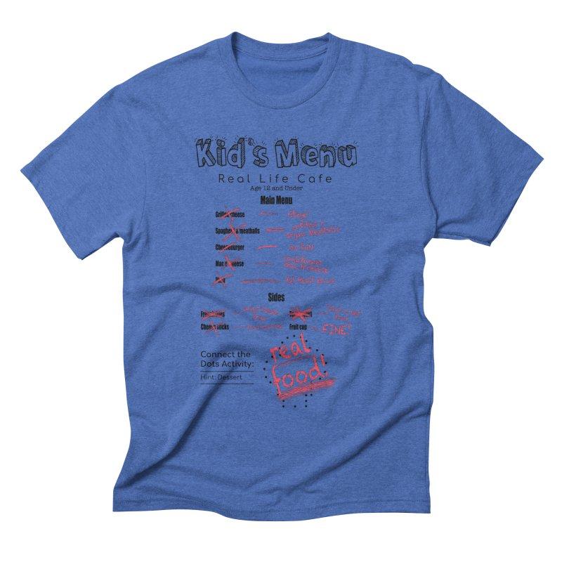 Kid's menu black text Men's T-Shirt by Fat Fueled Family's Artist Shop