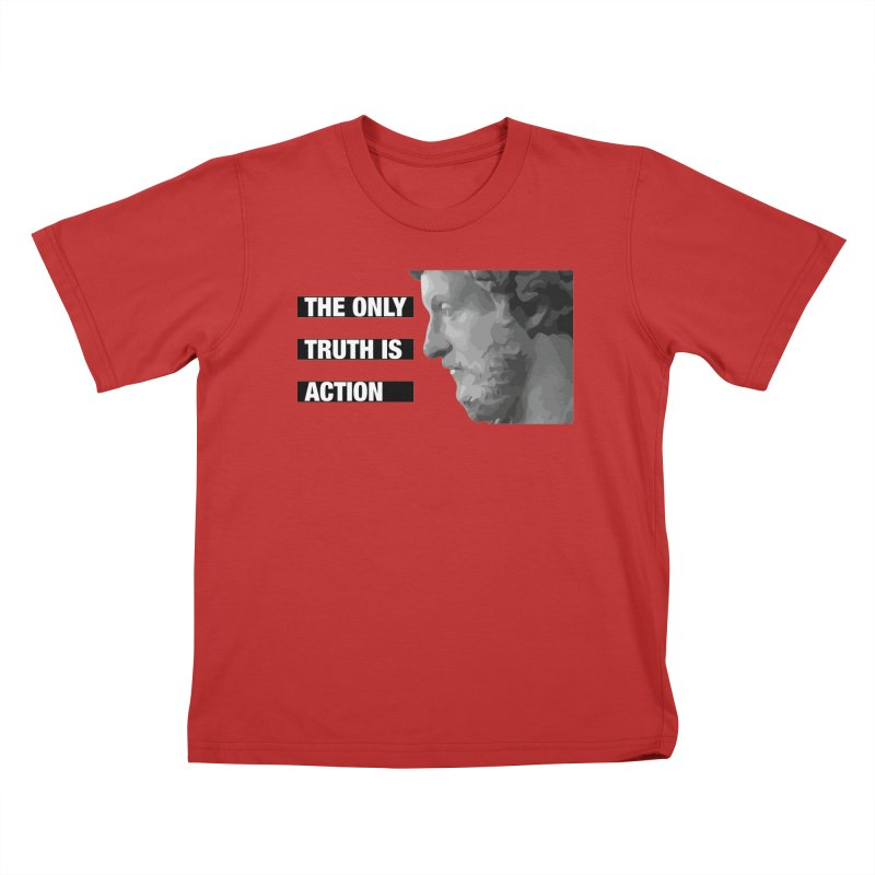 The only truth is action black Kids T-Shirt by Fat Fueled Family's Artist Shop