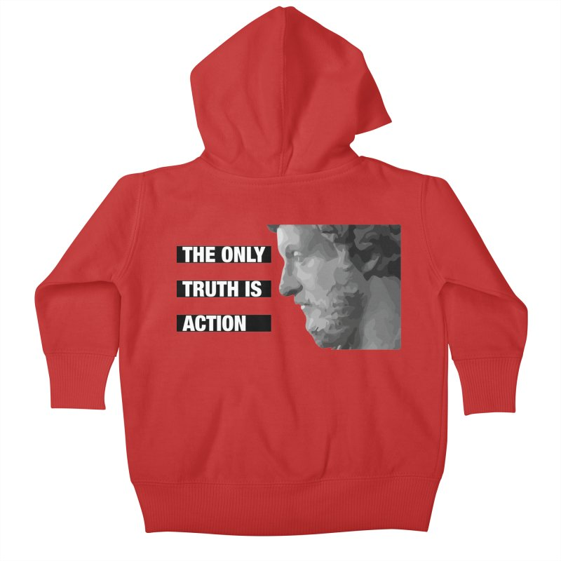 The only truth is action black Kids Baby Zip-Up Hoody by Fat Fueled Family's Artist Shop