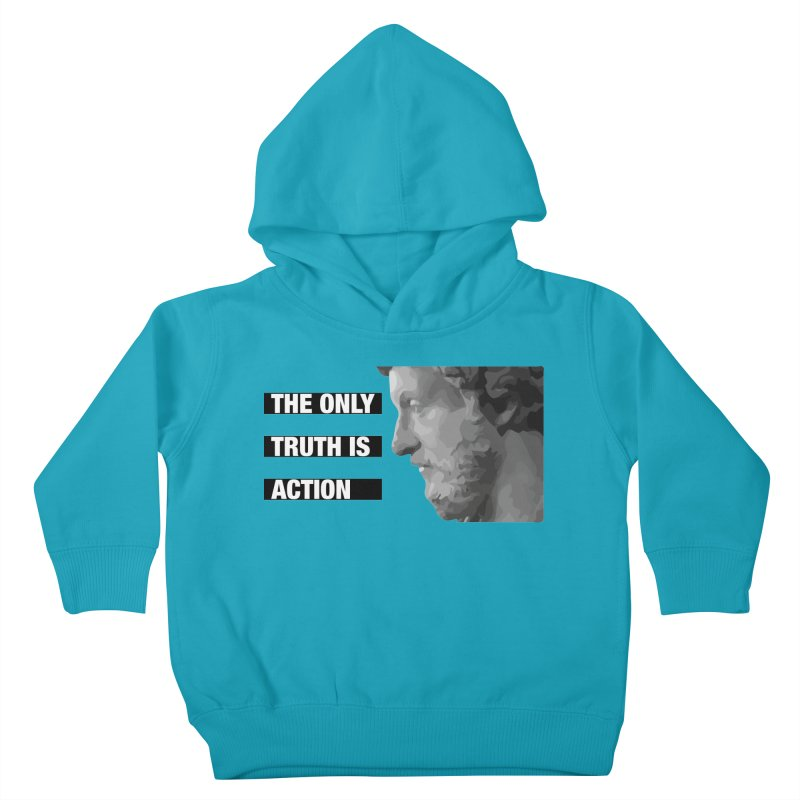 The only truth is action black Kids Toddler Pullover Hoody by Fat Fueled Family's Artist Shop