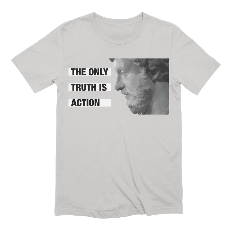 The Only Truth is Action black Men's Extra Soft T-Shirt by Fat Fueled Family's Artist Shop