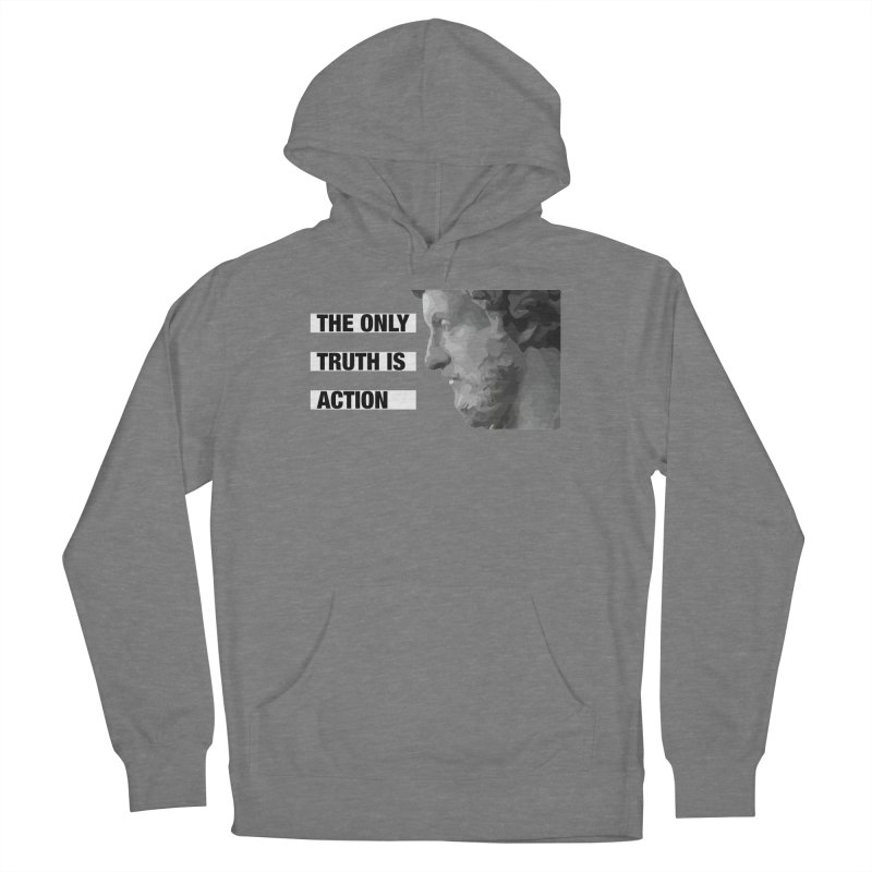 The Only Truth is Action black Women's Pullover Hoody by Fat Fueled Family's Artist Shop