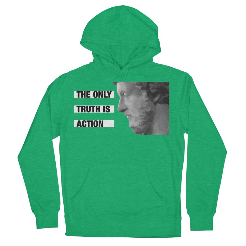The Only Truth is Action Men's French Terry Pullover Hoody by fatfueledfamily's Artist Shop