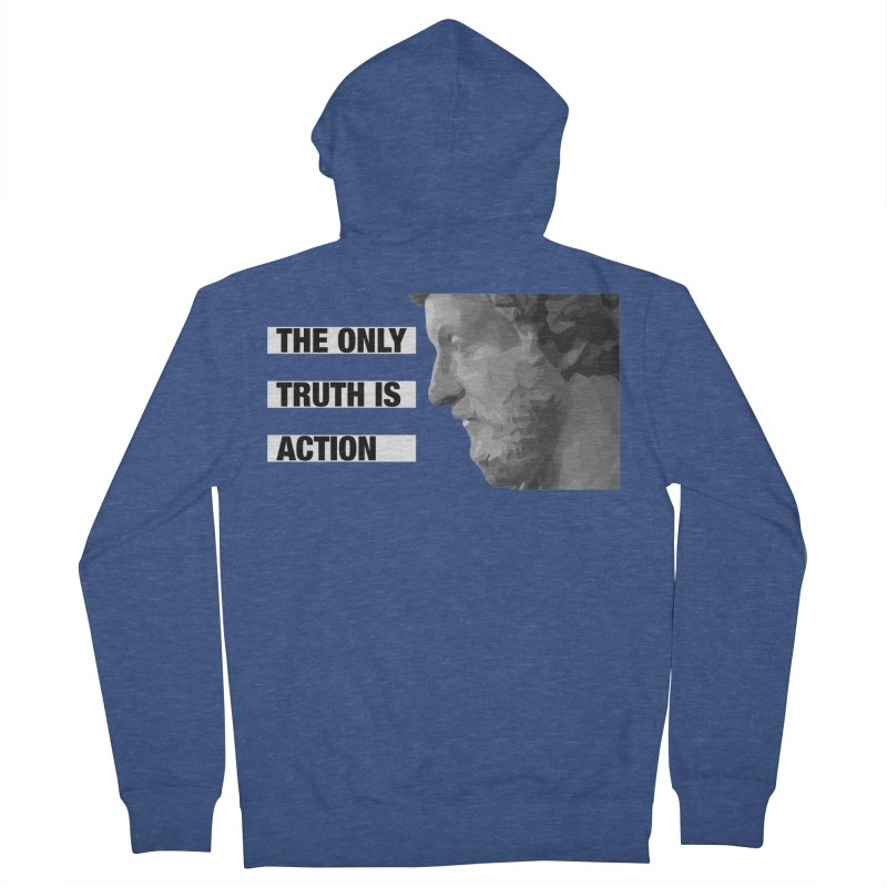The Only Truth is Action black Women's French Terry Zip-Up Hoody by Fat Fueled Family's Artist Shop