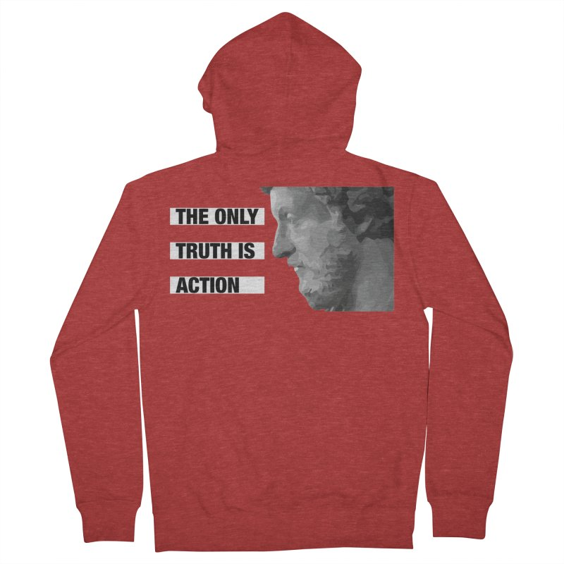 The Only Truth is Action Men's French Terry Zip-Up Hoody by fatfueledfamily's Artist Shop