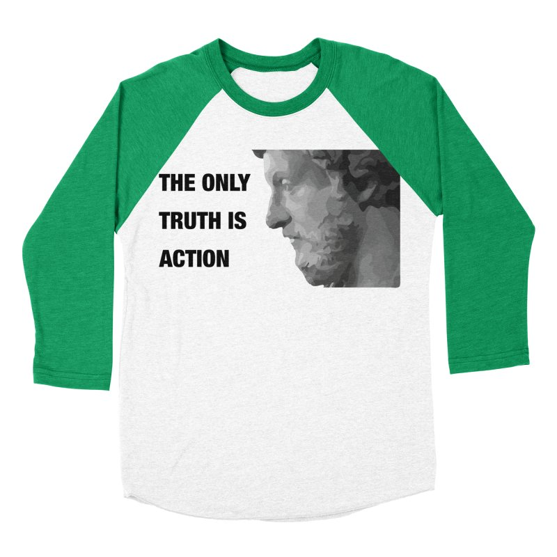 The Only Truth is Action Men's Baseball Triblend Longsleeve T-Shirt by fatfueledfamily's Artist Shop