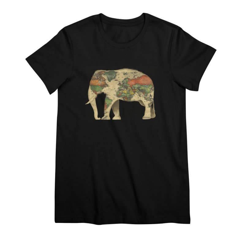 save the elephants Women's Premium T-Shirt by Fathi