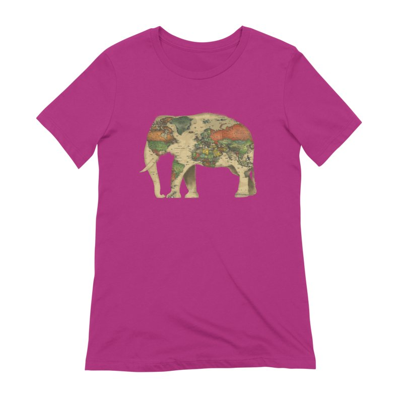 save the elephants Women's Extra Soft T-Shirt by Fathi