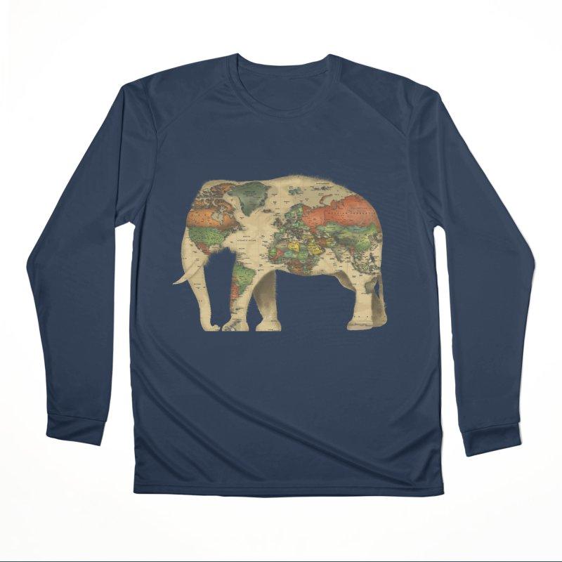 save the elephants Men's Performance Longsleeve T-Shirt by Fathi