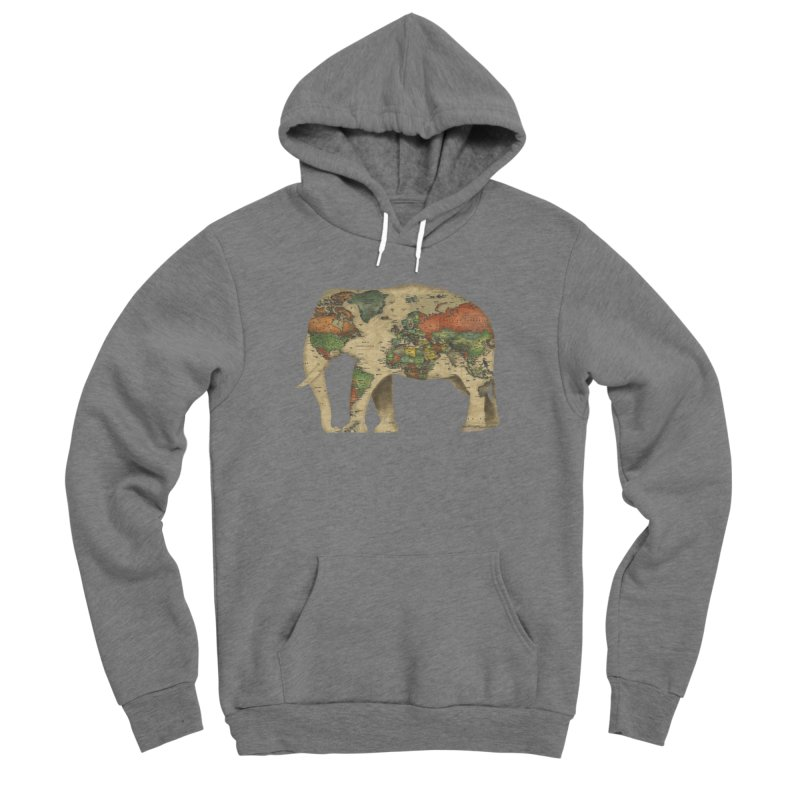 save the elephants Women's Sponge Fleece Pullover Hoody by Fathi