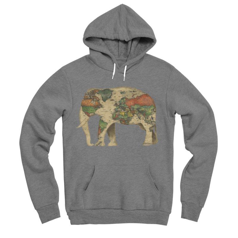 save the elephants Women's Sponge Fleece Pullover Hoody by Fathi