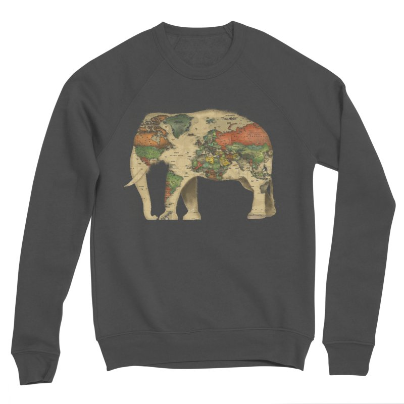 save the elephants Men's Sponge Fleece Sweatshirt by Fathi