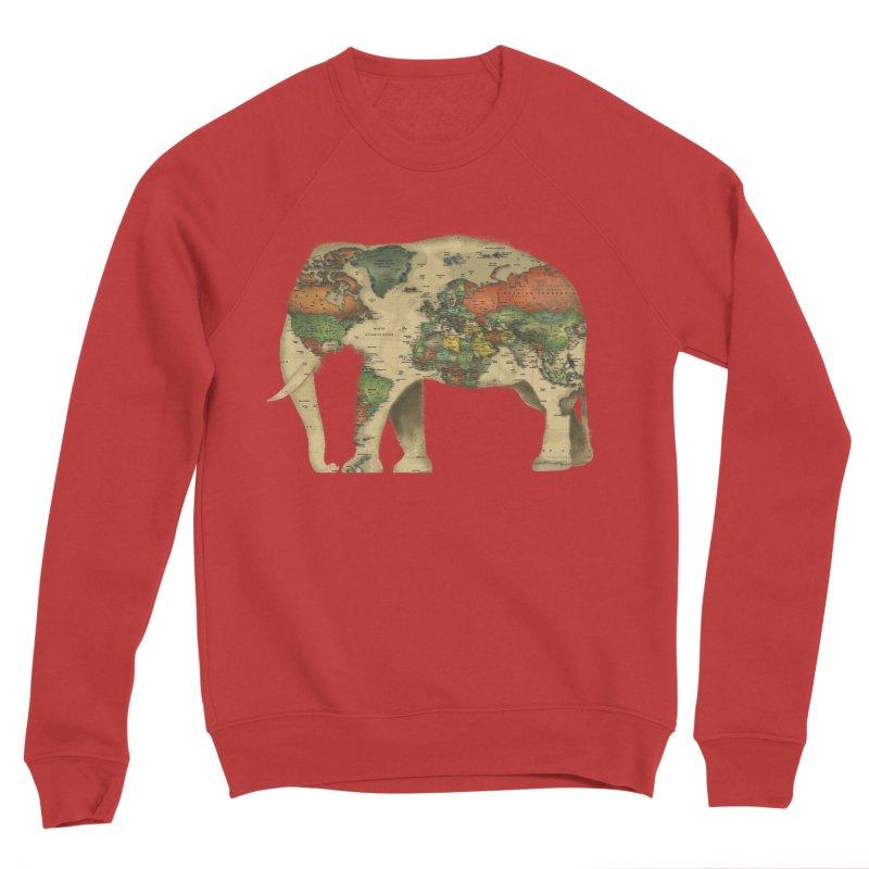 save the elephants Women's Sponge Fleece Sweatshirt by Fathi
