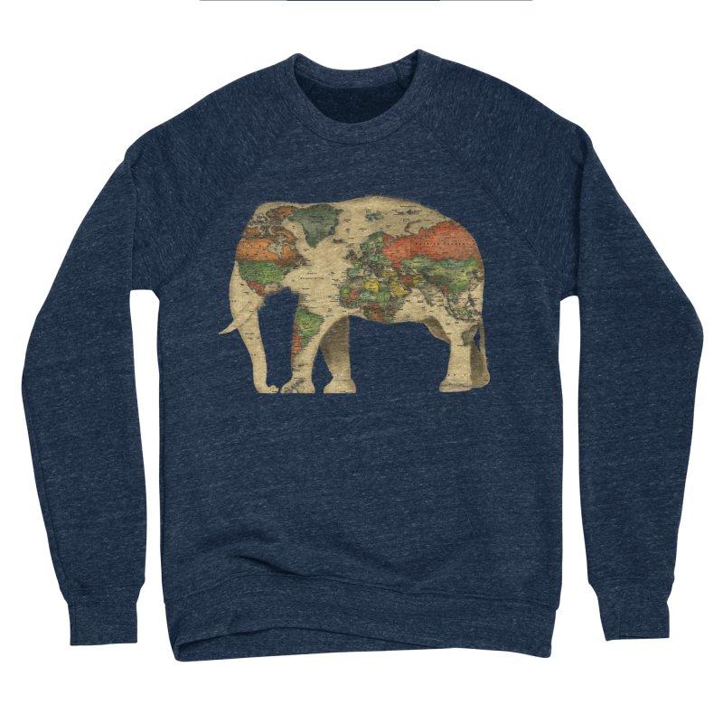 save the elephants Men's Sponge Fleece Sweatshirt by Fathi