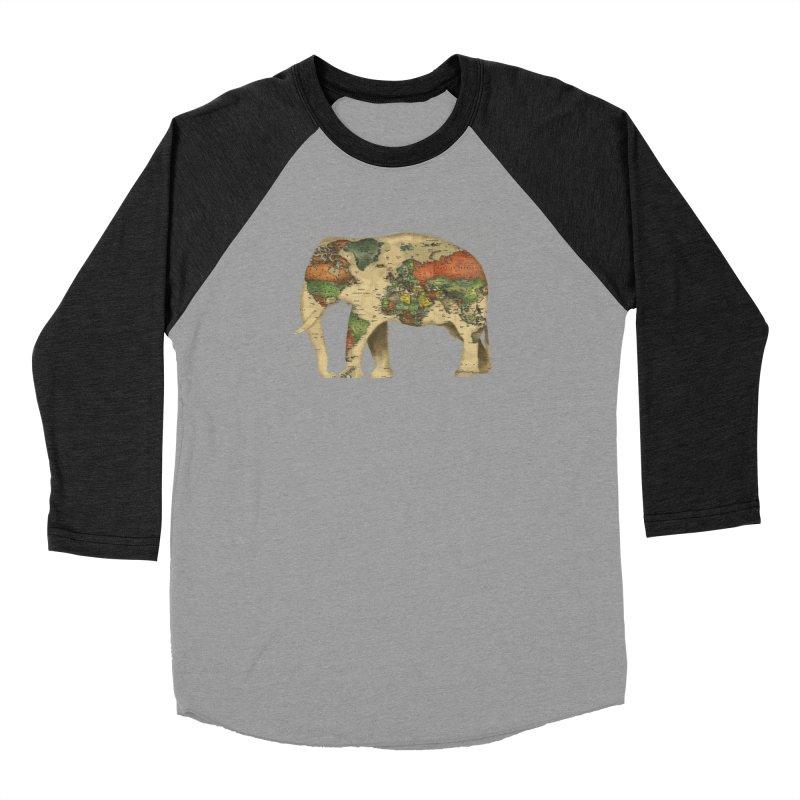 save the elephants Men's Baseball Triblend Longsleeve T-Shirt by Fathi