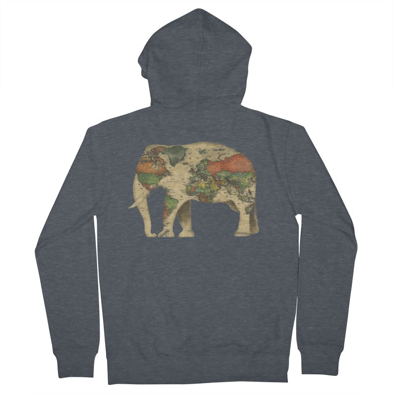 save the elephants Women's French Terry Zip-Up Hoody by Fathi