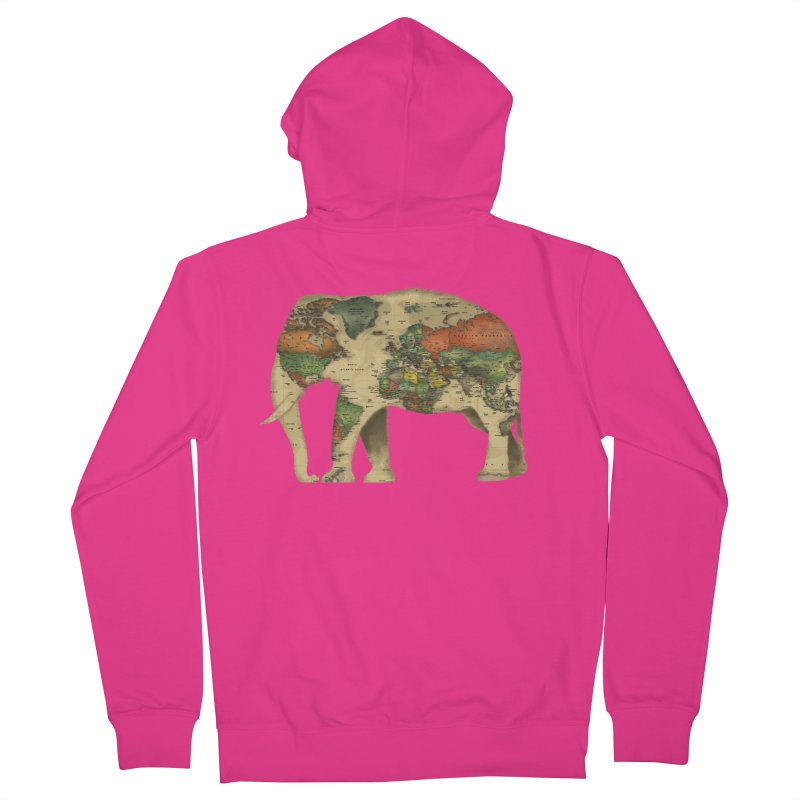 save the elephants Men's French Terry Zip-Up Hoody by Fathi