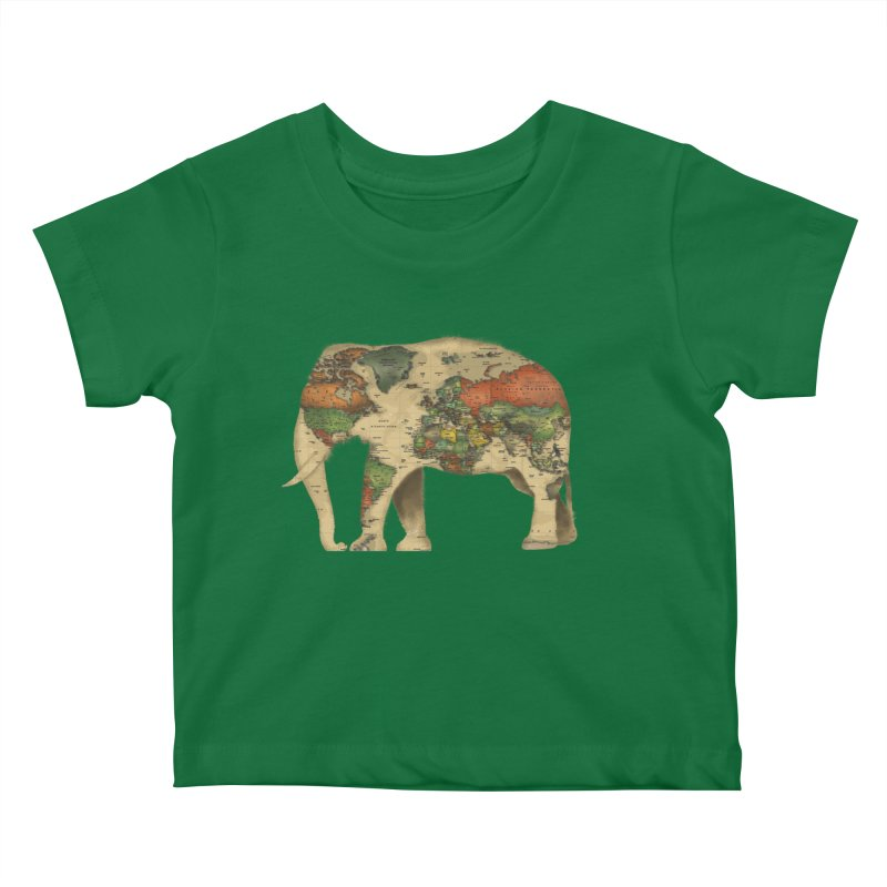 save the elephants Kids Baby T-Shirt by Fathi