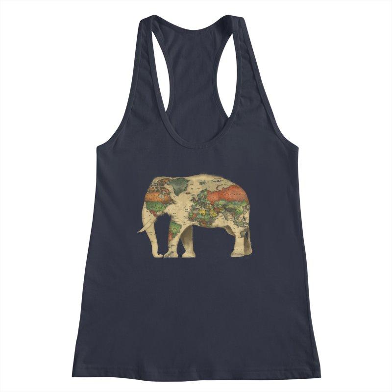 save the elephants Women's Racerback Tank by Fathi