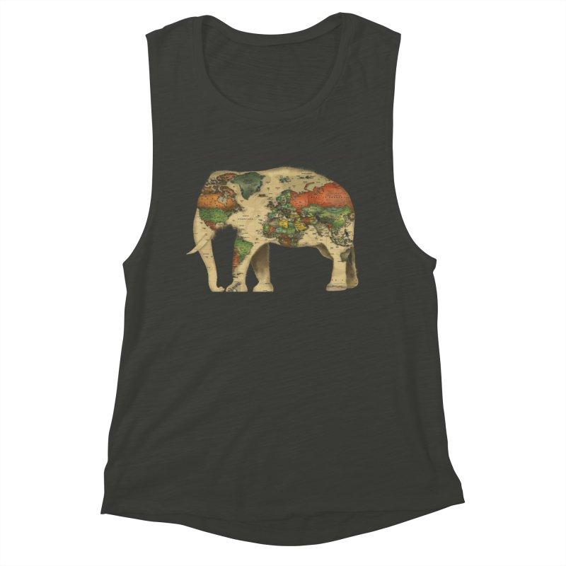 save the elephants Women's Muscle Tank by Fathi