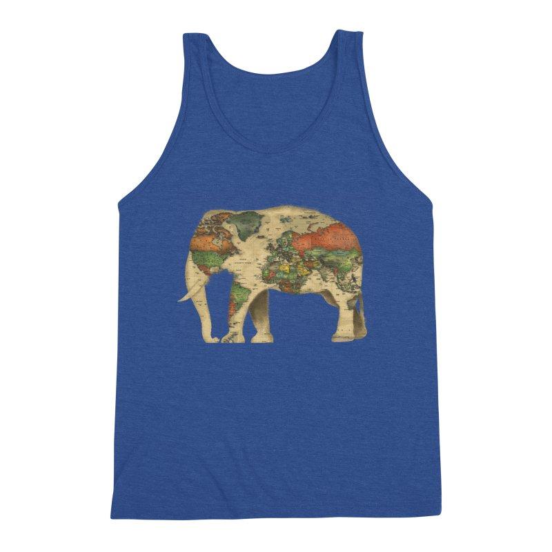 save the elephants Men's Triblend Tank by Fathi