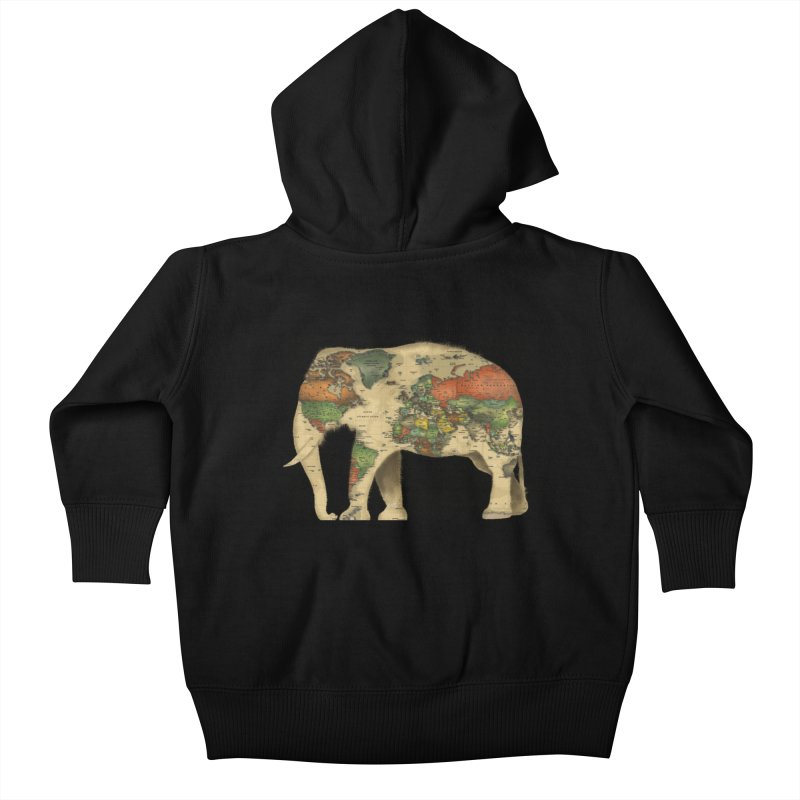 save the elephants Kids Baby Zip-Up Hoody by Fathi