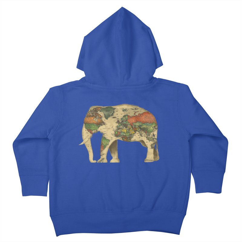 save the elephants Kids Toddler Zip-Up Hoody by Fathi