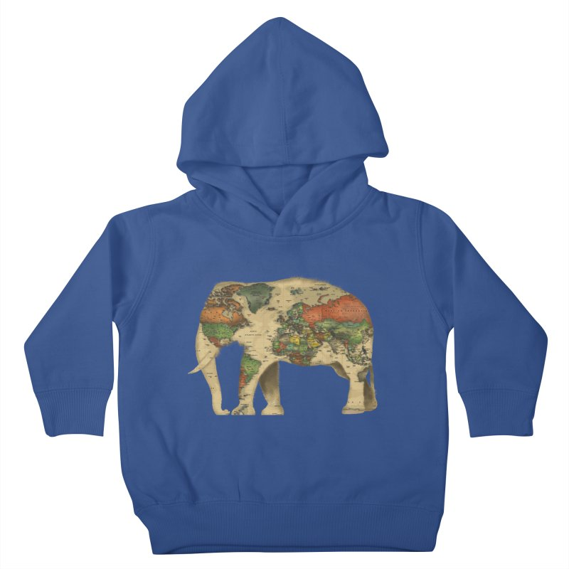 save the elephants Kids Toddler Pullover Hoody by Fathi