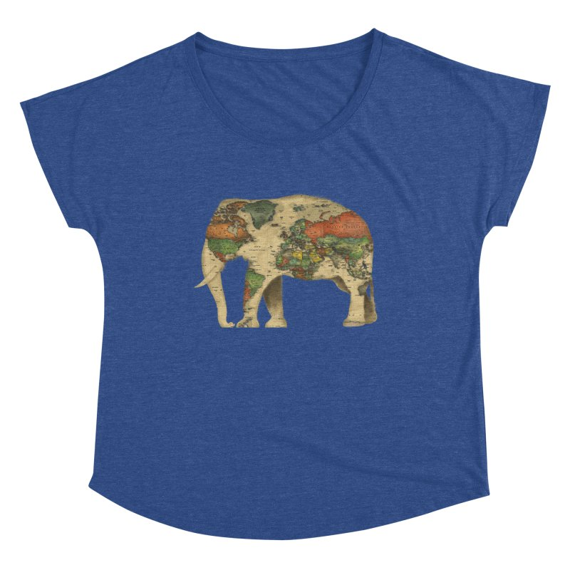 save the elephants Women's Dolman Scoop Neck by Fathi