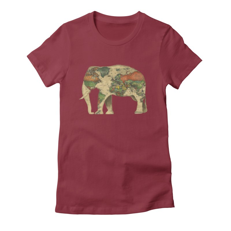 save the elephants Women's Fitted T-Shirt by Fathi