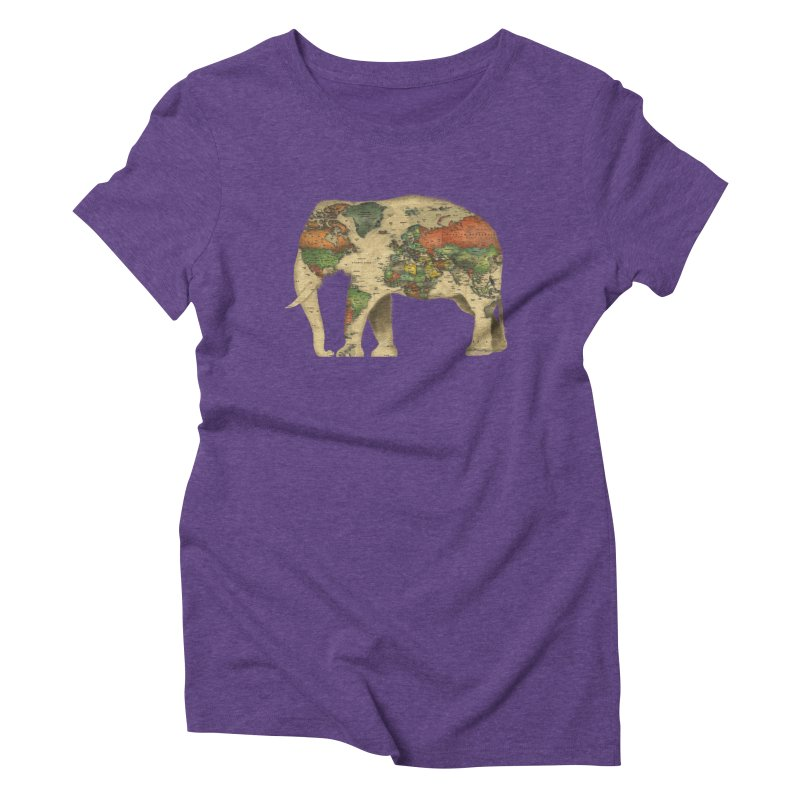 save the elephants Women's Triblend T-Shirt by Fathi