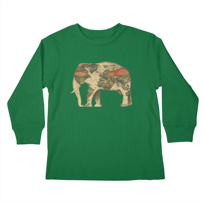 save the elephants Kids Longsleeve T-Shirt by Fathi
